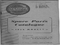 JAMES Spare Parts Catalogue - 1956 Models