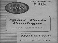 JAMES Spare Parts Catalogue - 1957 Models