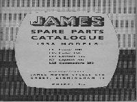 JAMES Spare Parts Catalogue - 1958 Models