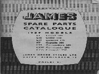 JAMES Spare Parts Catalogue - 1959 Models
