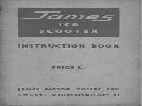 James 1960 Instruction Book Scooter