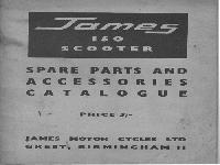 JAMES 1961 Scooter Spare Parts and Accessories Catalogue