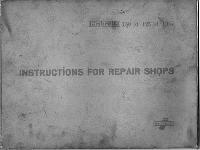 Lambretta 1957 150 ld - 125 ld Instructions for Repair Shops