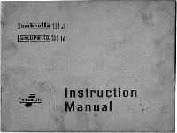 Lambretta 1959 150 d/ld Instruction Manual