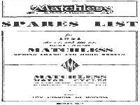 Matchless 1951 Spares List for Single Cylinder Models