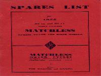 Matchless 1955 Spares List for Single Cylinder Models