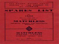 Matchless 1956 Spares List for Single Cylinder Models