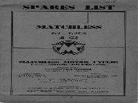 Matchles 1959 s Spares List G2 - G2CS & G5
