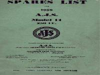 Matchless 1959 Spares List A.J.S.