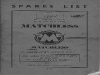 Matchless 1960 Spares List