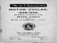 New Hudson 1928-1930 Spare Parts and Replacement List