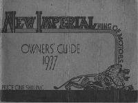 New Imperial Owner`s Guide 1937
