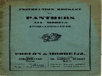 Panther 1938-1939-1946 Instruction Booklet