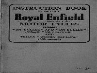 "Royal Enfield 1956-62 Instruction Book ""Bullet"", ""Clipper"" and ""Works Replica"""