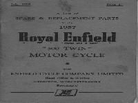"Royal Enfield 1957 Spare & Replacement Parts ""500 Twin"""