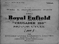 "Roayal Enfield 1957 Spare & Replacement Parts ""Crusader 250"""