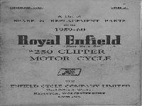 "Royal Enfield 1959-60 Spare & Replacement Parts ""250 Clipper"""