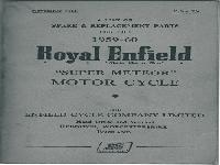 "Royal Enfield 1959-60 Spare & Replacement Parts ""Super Meteor"""