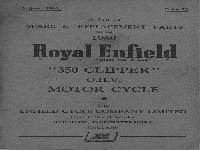 "Royal Enfield 1960 Spare & Replacement Parts ""350 Clipper"""