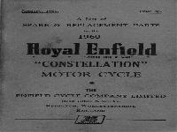 "Royal Enfield 1960 Spare & Replacement Parts ""Constellation"""
