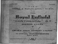 "Royal Enfield 1965 Spare & Replacement Parts ""Continental"" G.T:"