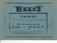Ersatzteilliste Terrot RD (seitengesteuert) und RSSE