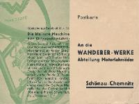 Wanderer Bestellkarte