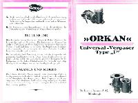 """Orkan Vergaser Type """"U"""""""