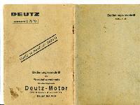 Deutz Motor Bedienungsvorschrift