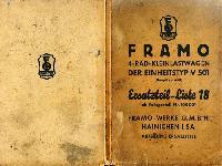 Framo Ersatztteilliste V 501 / 650