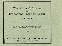 Imperia 1929 Ersatzteilliste Sport 500