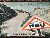 NSU Modelle 1937