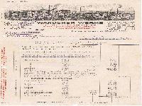 Wanderer Rechnung 1923