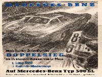Mercedes Le Mans Plakat