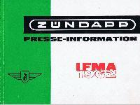Zündapp Presse-Informationen IFMA 1962
