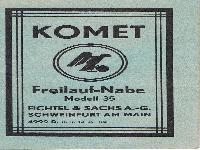 Komet Freilauf-Nabe Modell 35