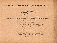 Zündapp Technische Mitteilungen 0 Inhaltsverzeichnis