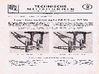 Zündapp Technische Mitteilungen Oktober 1950 - 2 Jurisch-Hinterradfederung für DB 200 und DB 201