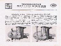 Zündapp Technische Mitteilungen Juni 1952 - 10 Einstellung des Hinterachsgetriebes KS 601