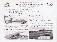 Zündapp Technische Mitteilungen Februar 1955 - 19 Roller-Sitzbank und Verschiedenes
