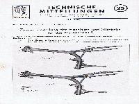 Zündapp Technische Mitteilungen Juli 1956 - 25 Zusammenstellung Einzelsitze und Sitzbänke für das Modell 200 S