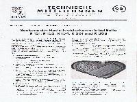 Zündapp Technische Mitteilungen April 1957 - 28 Senkung der Höchstlautstärkewerte bei Bella R 151, R 153, R 154,  R 201 und R 203
