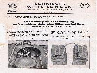 Zündapp Technische Mitteilungen Oktober 1957 - 30 Verbesserung der Kabelverlegung zur Vermeidung elektrischer Störungen bei Bella R 151,  R 153 und R 201