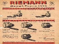 Riemann Beleuchtungen, Haupttypen 1939