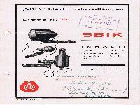 """""""SBIK"""" - Elektrische Fahrradlampen Liste Nr. 66"""