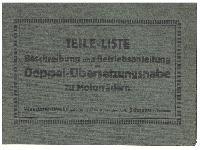 Wanderer Teile-Liste Beschreibung und Betriebsanleitung der Doppel-Übersetzungsnabe zu Motorrädern