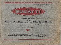 BUGATTI Notice de Conduite