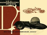 """Motorrad-Seitenwagen """"Falke"""""""