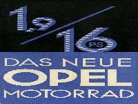 Das neue OPEL 1,9 / 16 PS Motorrad