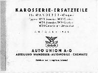 W 23, W 24 Karosserie-Ersatzteile Ausgabe 1938